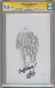 Ultimate Spider-man #160 Sketch Variant CGC 9.8 Signature Series Signed Stan Lee Nuff Said Marvel